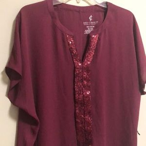 Juicy Couture Blouse Top SZ M NWT